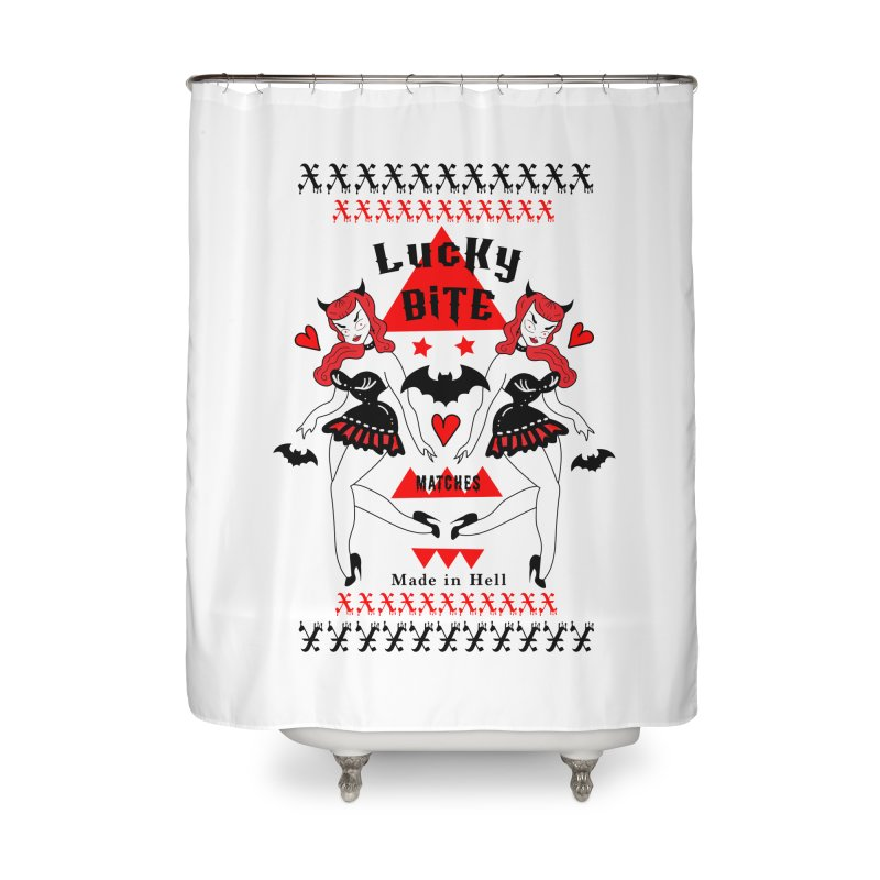 Lucky Bite Home Shower Curtain by Angela Tarantula