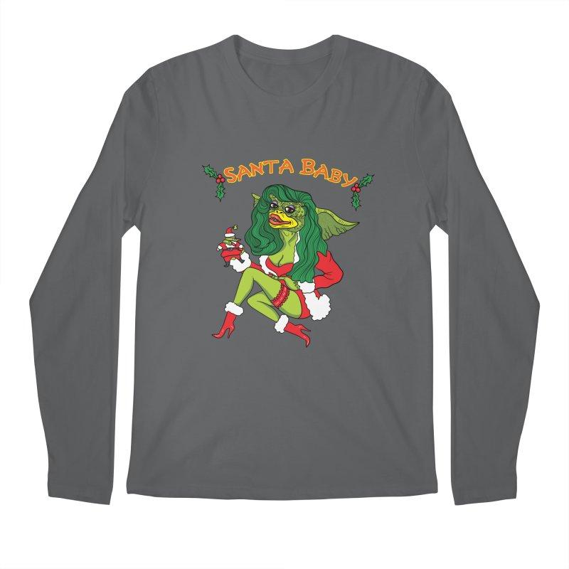 Santa Baby Men's Longsleeve T-Shirt by Angela Tarantula