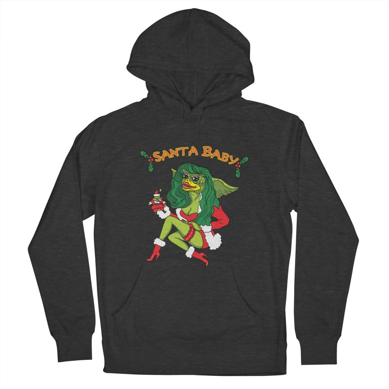 Santa Baby Women's French Terry Pullover Hoody by Angela Tarantula