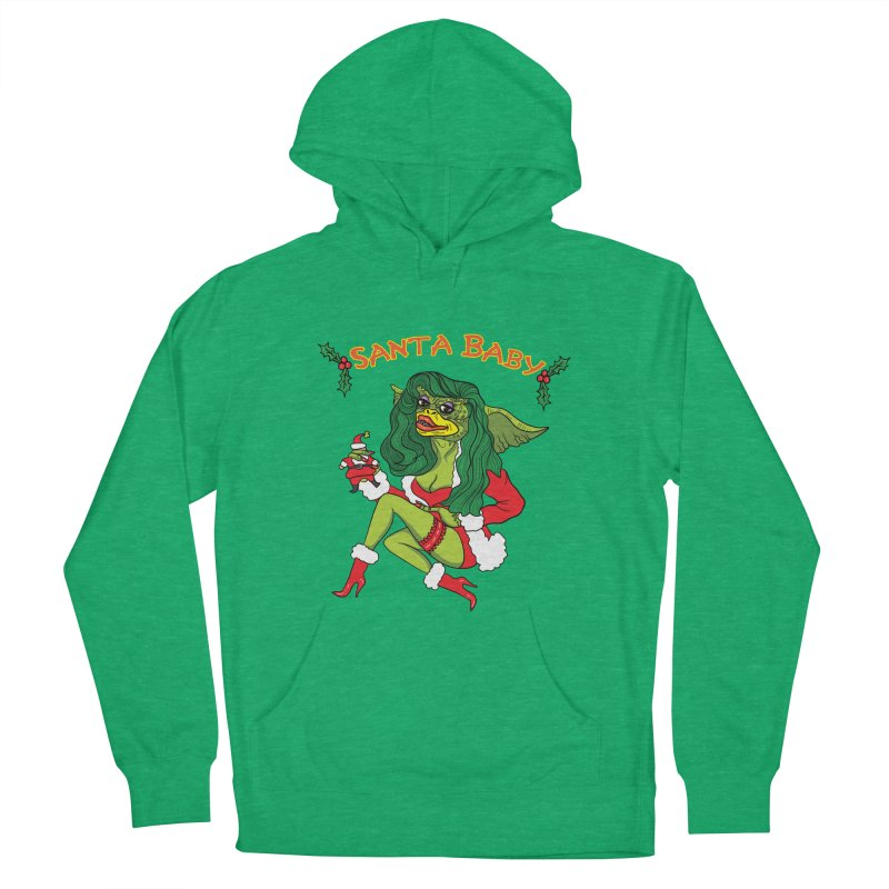 Santa Baby Men's French Terry Pullover Hoody by Angela Tarantula
