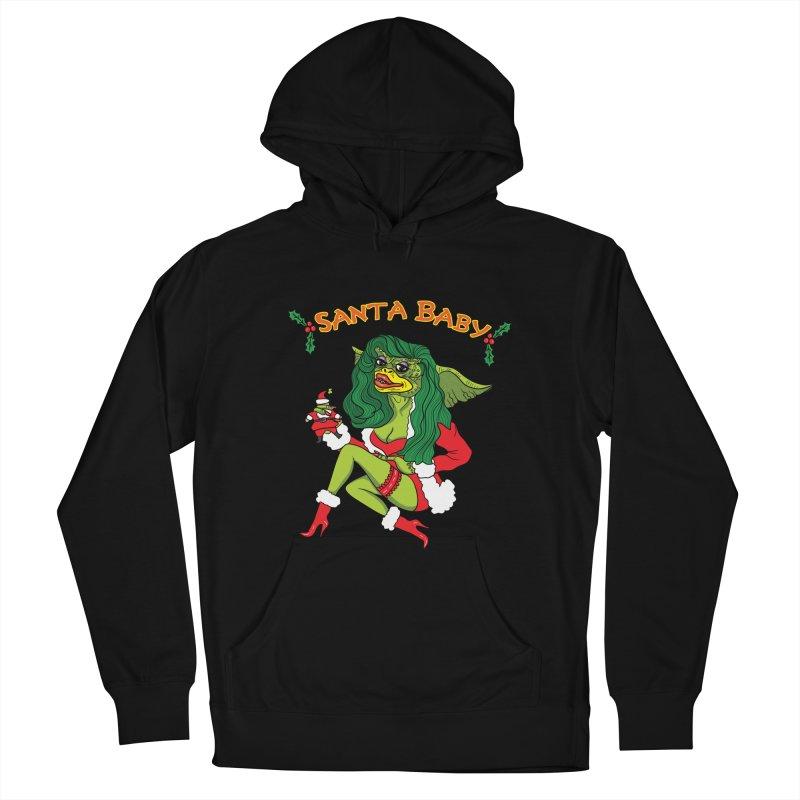 Santa Baby Men's Pullover Hoody by Angela Tarantula