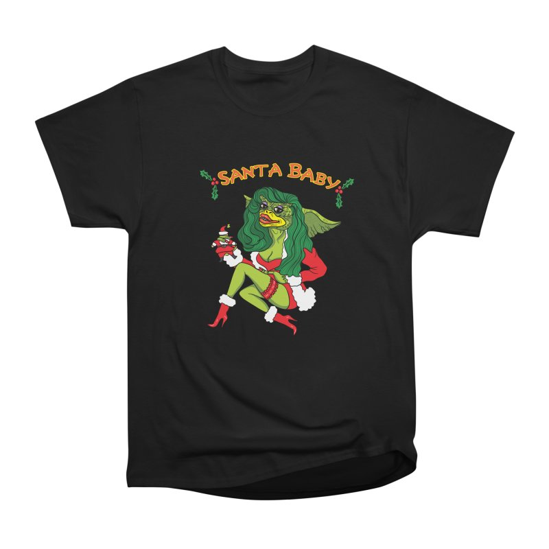 Santa Baby Men's Heavyweight T-Shirt by Angela Tarantula