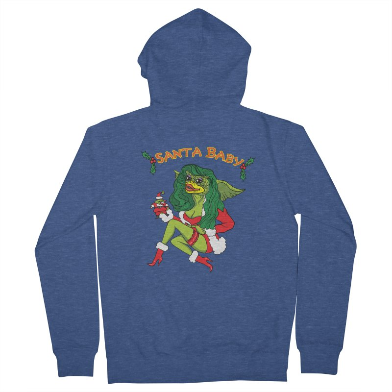 Santa Baby Women's French Terry Zip-Up Hoody by Angela Tarantula