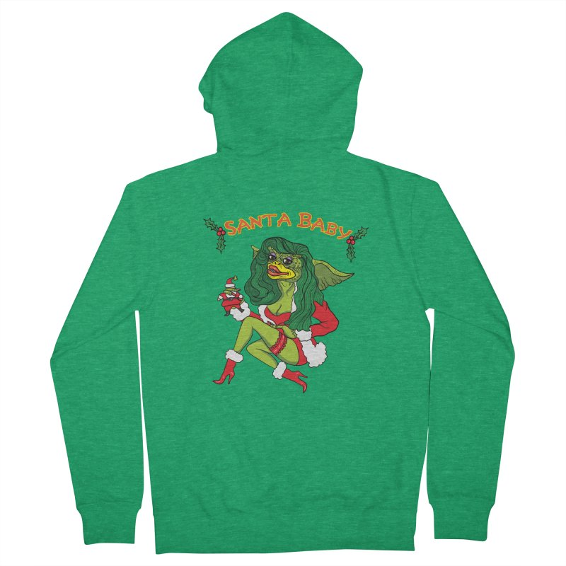 Santa Baby Men's Zip-Up Hoody by Angela Tarantula