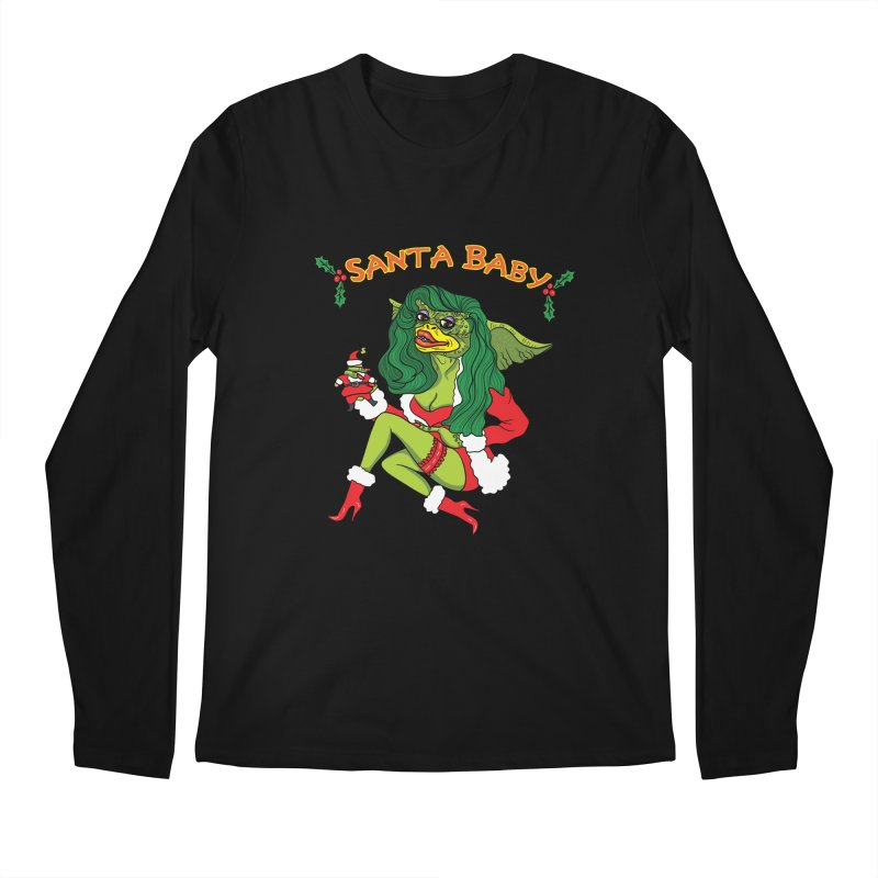 Santa Baby Men's Regular Longsleeve T-Shirt by Angela Tarantula