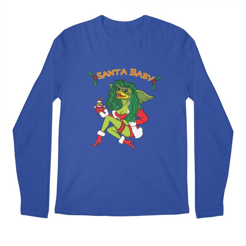 Santa Baby Men's Regular Longsleeve T-Shirt by Angela Tarantula
