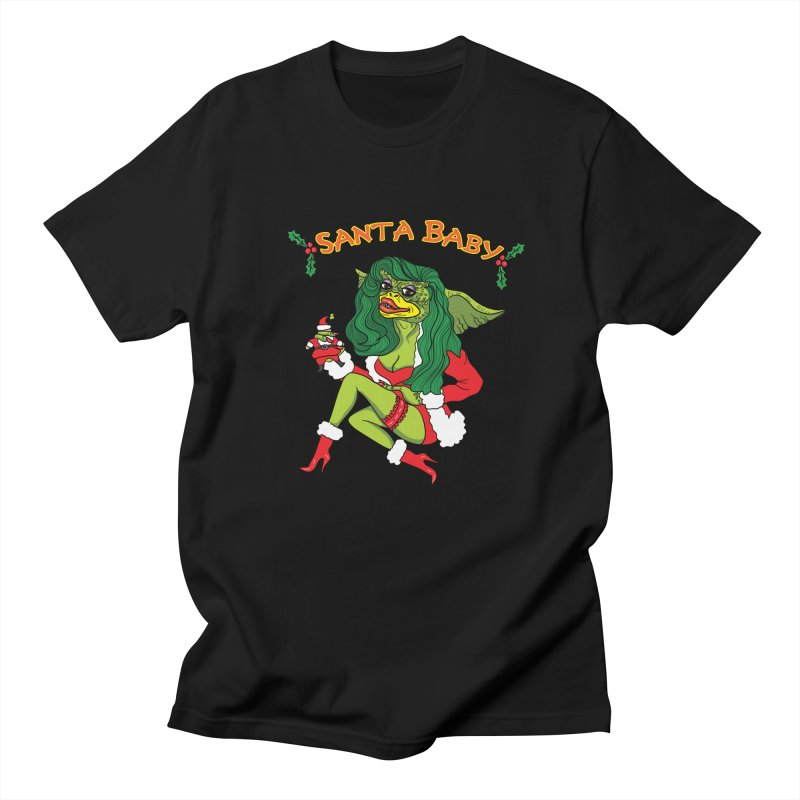 Santa Baby Men's Regular T-Shirt by Angela Tarantula