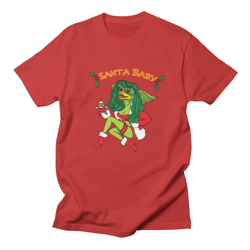 Santa Baby Women's Regular Unisex T-Shirt by Angela Tarantula