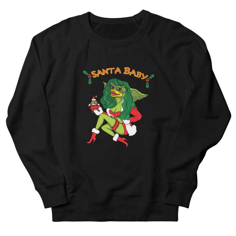 Santa Baby Women's French Terry Sweatshirt by Angela Tarantula