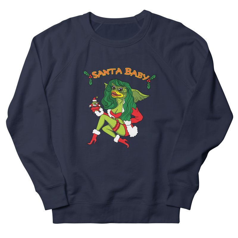 Santa Baby Women's French Terry Sweatshirt by Angela Tarantula