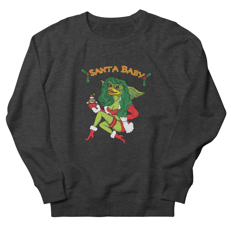 Santa Baby Men's French Terry Sweatshirt by Angela Tarantula