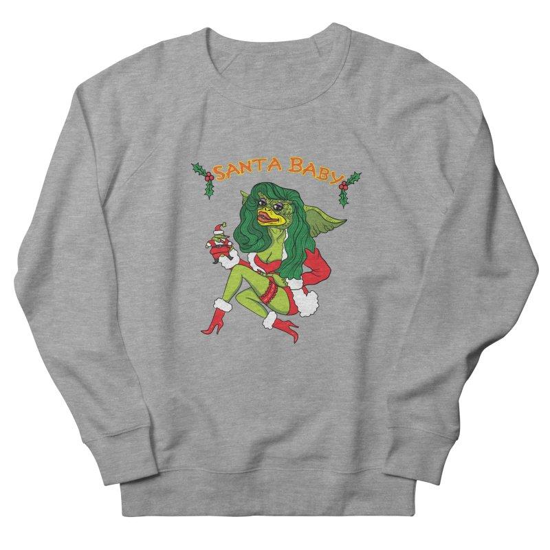 Santa Baby Men's French Terry Sweatshirt by Angela Tarantula