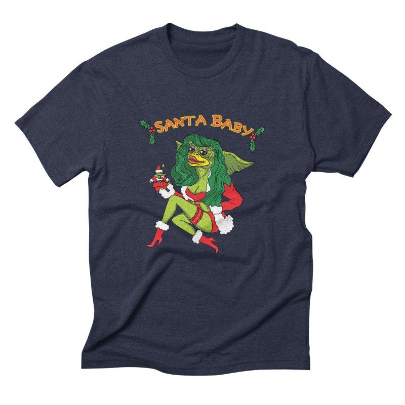 Santa Baby Men's Triblend T-Shirt by Angela Tarantula