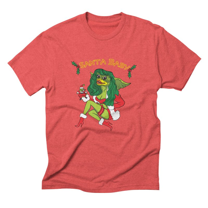 Santa Baby Men's Triblend T-Shirt by Angela Tarantula