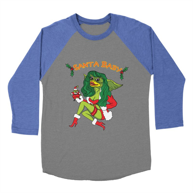 Santa Baby Women's Baseball Triblend Longsleeve T-Shirt by Angela Tarantula