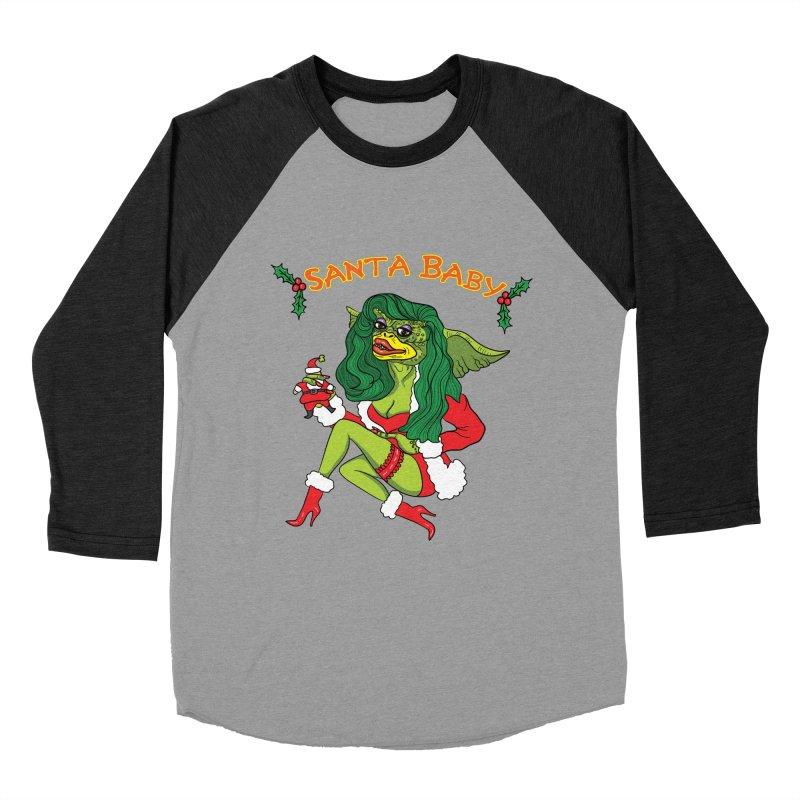 Santa Baby Women's Baseball Triblend T-Shirt by Angela Tarantula