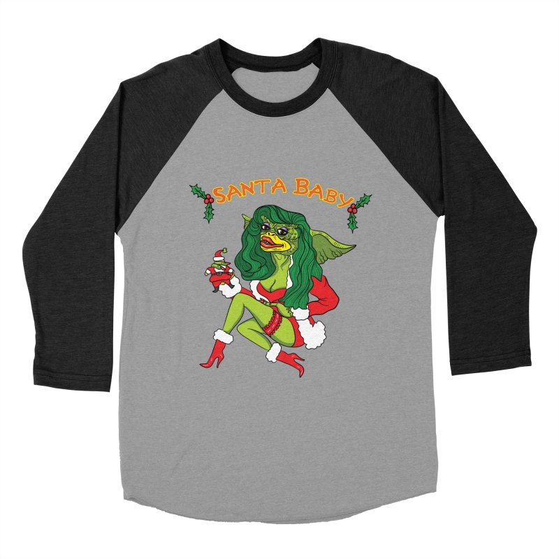 Santa Baby Men's Baseball Triblend Longsleeve T-Shirt by Angela Tarantula