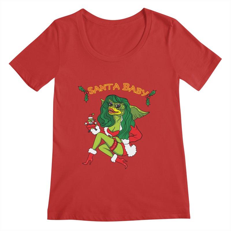 Santa Baby Women's Regular Scoop Neck by Angela Tarantula