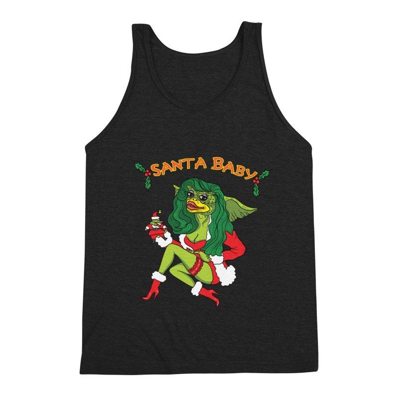 Santa Baby Men's Triblend Tank by Angela Tarantula