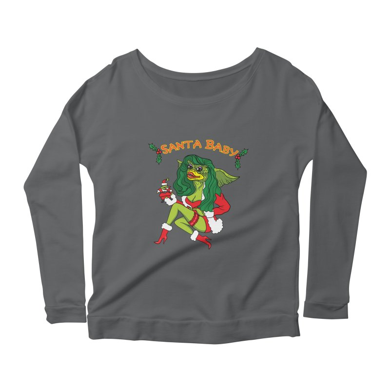 Santa Baby Women's Scoop Neck Longsleeve T-Shirt by Angela Tarantula
