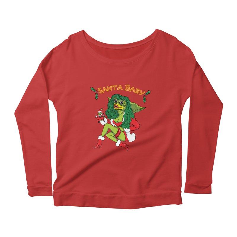 Santa Baby Women's Scoop Neck Longsleeve T-Shirt by Angela Tarantula