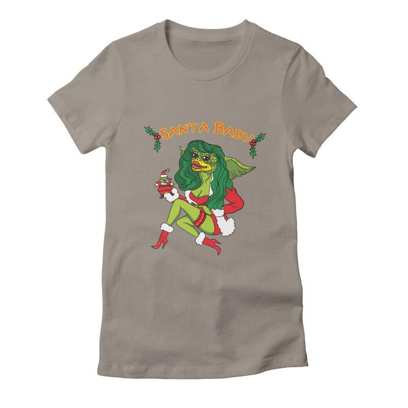 Santa Baby Women's Fitted T-Shirt by Angela Tarantula