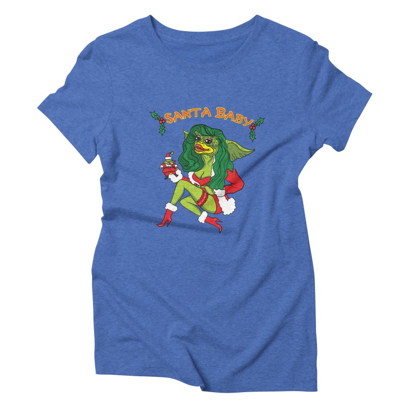 Santa Baby Women's Triblend T-Shirt by Angela Tarantula