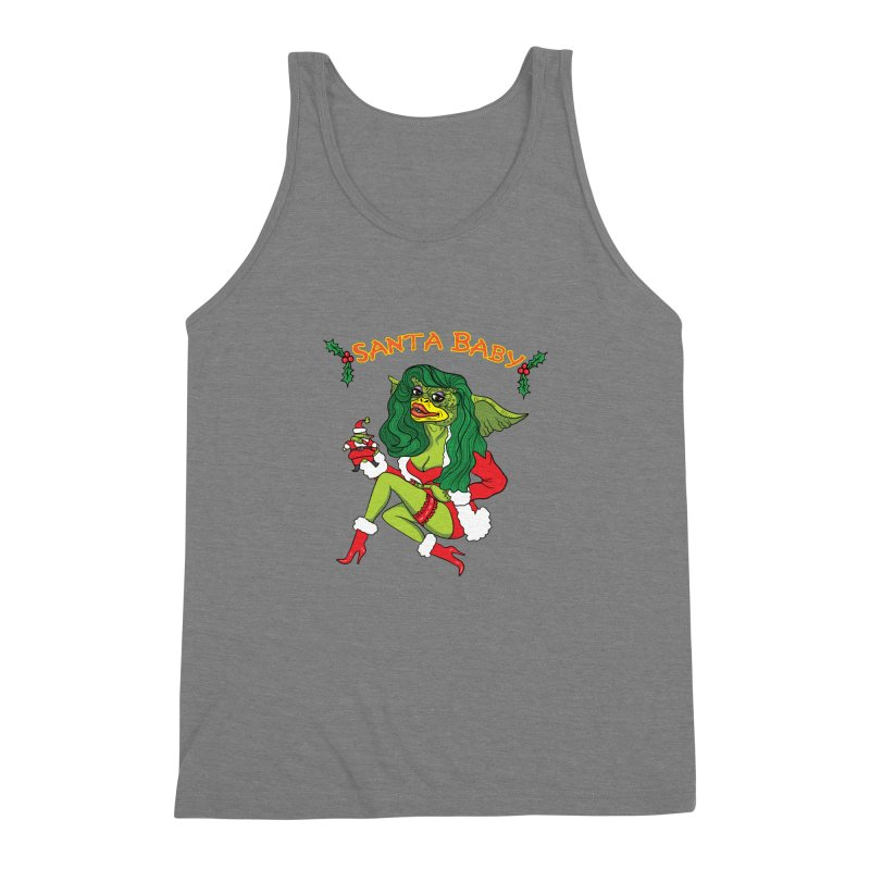Santa Baby Men's Triblend Tank by Angela Tarantula