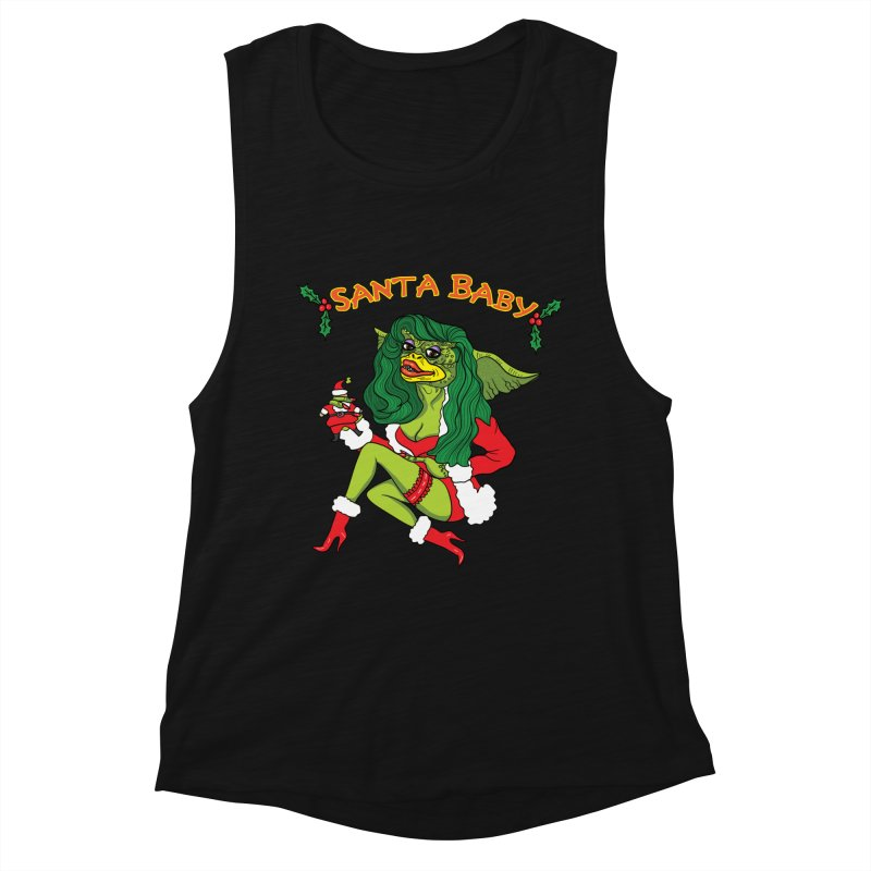 Santa Baby Women's Muscle Tank by Angela Tarantula
