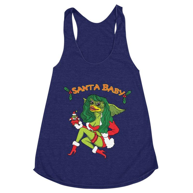 Santa Baby Women's Racerback Triblend Tank by Angela Tarantula