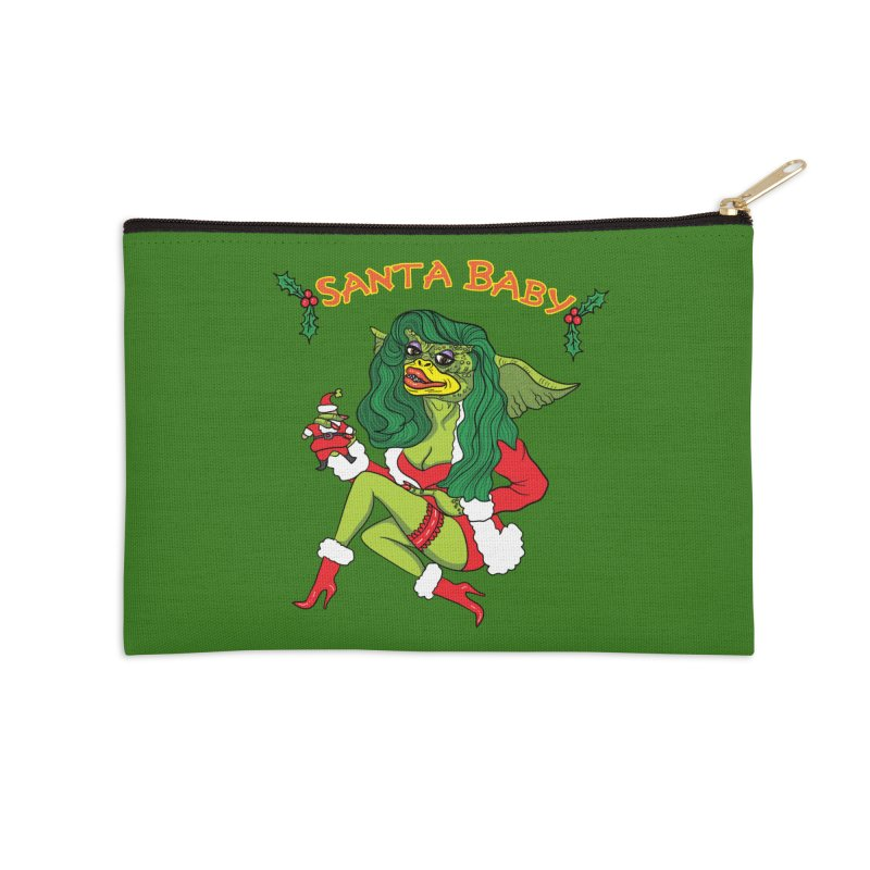 Santa Baby Accessories Zip Pouch by Angela Tarantula