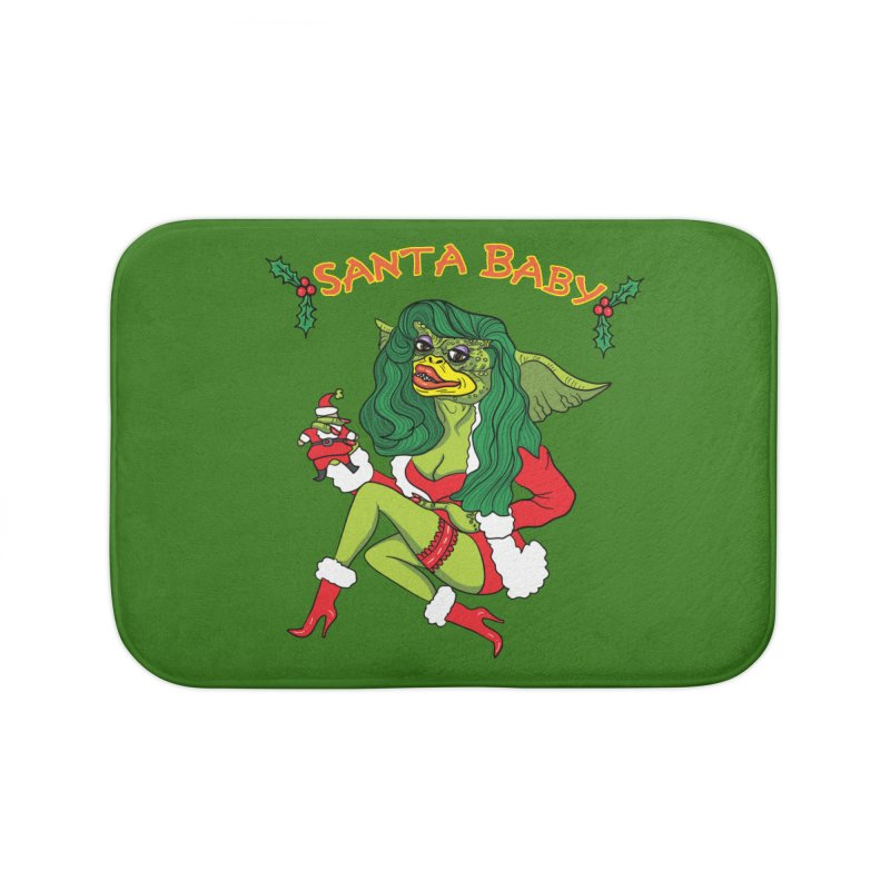 Santa Baby Home Bath Mat by Angela Tarantula