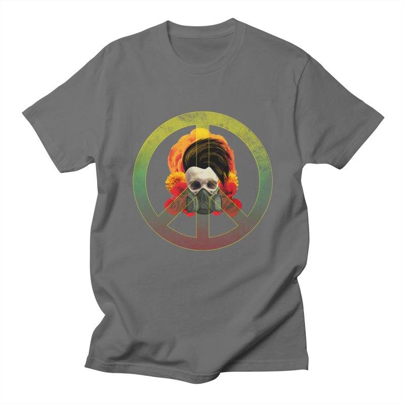 Peace Warrior Men's Regular T-Shirt by Angela Tarantula