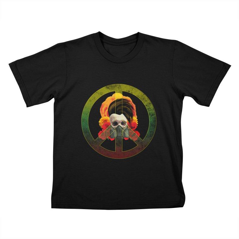 Peace Warrior Kids Toddler T-Shirt by Angela Tarantula