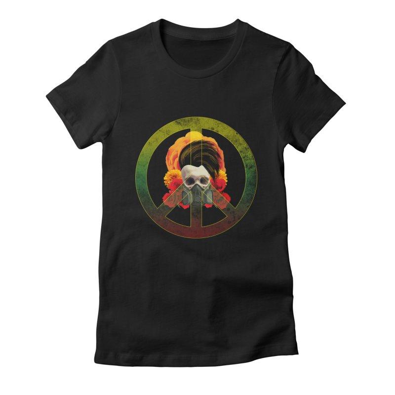 Peace Warrior Women's Fitted T-Shirt by Angela Tarantula