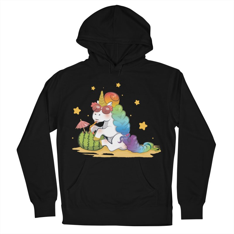 Even Unicorns ... Women's French Terry Pullover Hoody by angelielle's Artist Shop