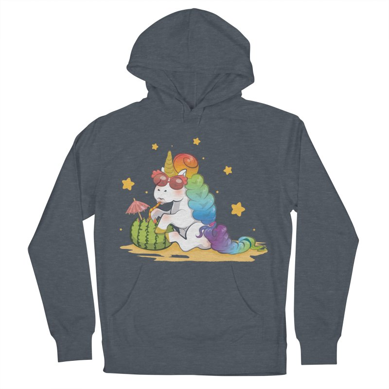 Even Unicorns ... Men's French Terry Pullover Hoody by angelielle's Artist Shop