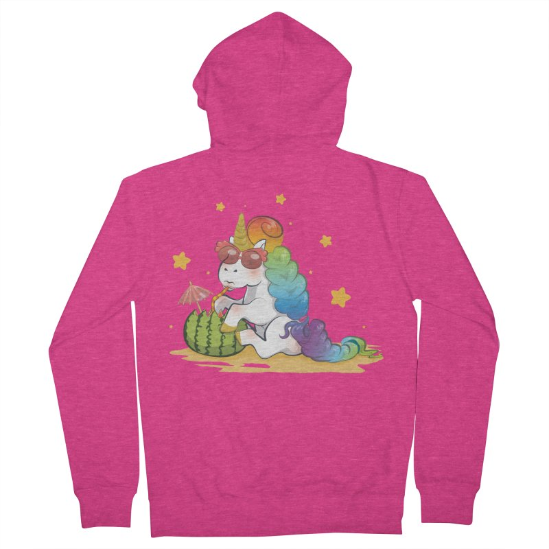 Even Unicorns ... Women's French Terry Zip-Up Hoody by angelielle's Artist Shop