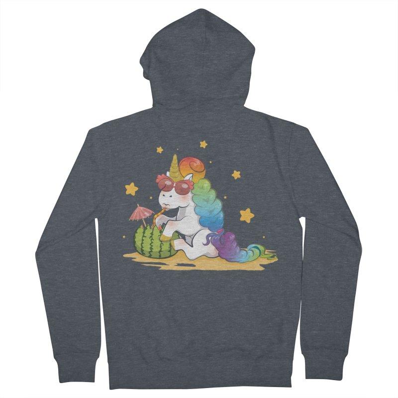 Even Unicorns ... Men's Zip-Up Hoody by angelielle's Artist Shop