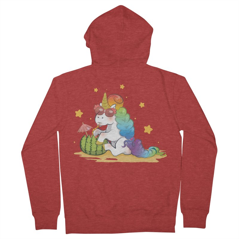 Even Unicorns ... Men's Zip-Up Hoody by angelielle's Artist Shop