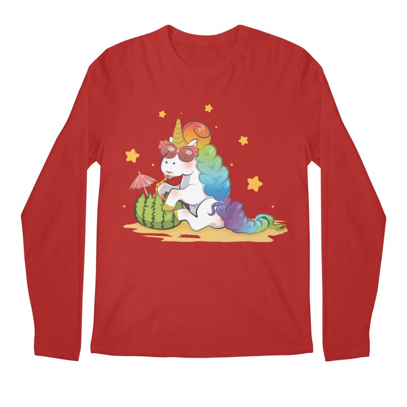 Even Unicorns ... Men's Longsleeve T-Shirt by angelielle's Artist Shop