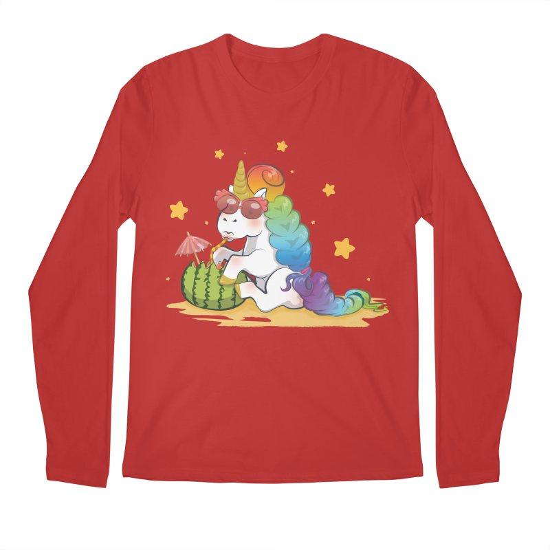 Even Unicorns ... Men's Longsleeve T-Shirt by angelielle's Artist Shop