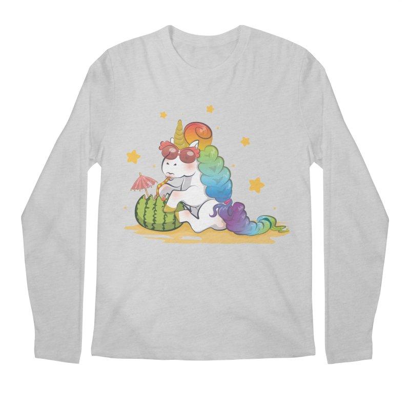 Even Unicorns ... Men's Regular Longsleeve T-Shirt by angelielle's Artist Shop