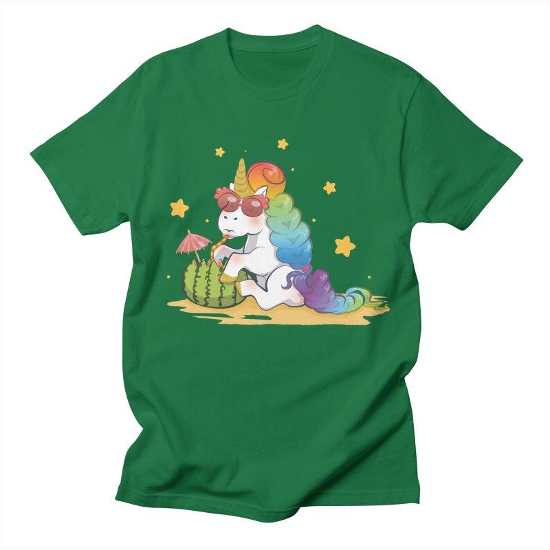 Even Unicorns ... Men's T-shirt by angelielle's Artist Shop