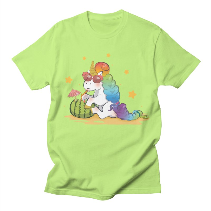 Even Unicorns ... Men's T-Shirt by angelielle's Artist Shop