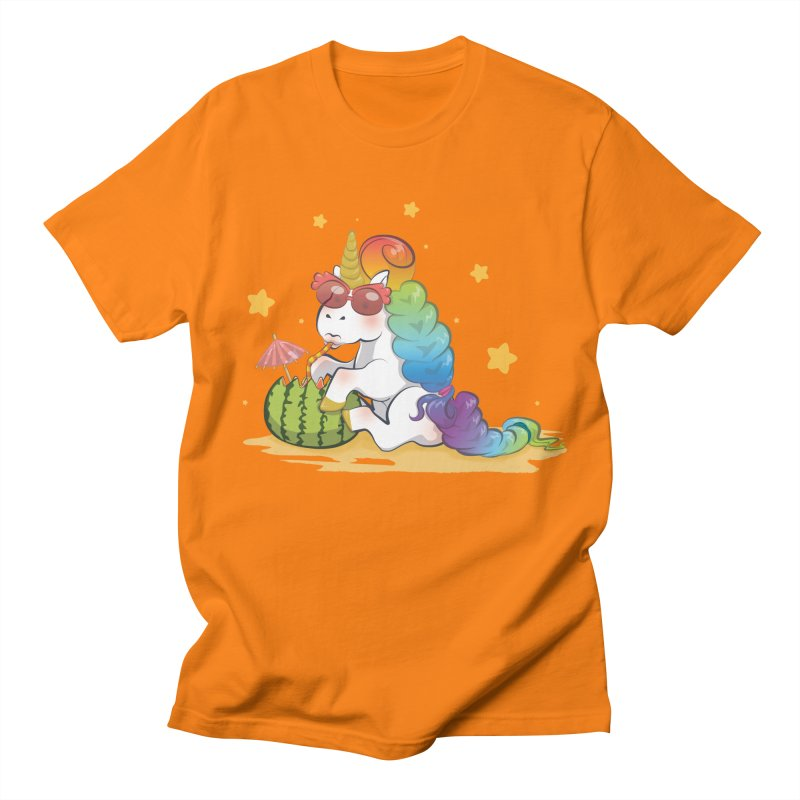 Even Unicorns ... Men's Regular T-Shirt by angelielle's Artist Shop