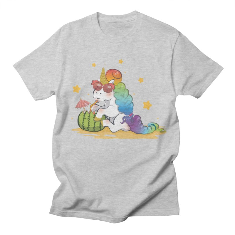 Even Unicorns ... Men's Regular T-Shirt by angelielle's Artist Shop