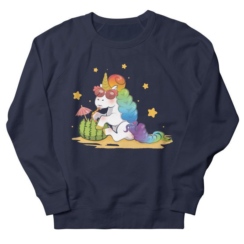 Even Unicorns ... Men's French Terry Sweatshirt by angelielle's Artist Shop