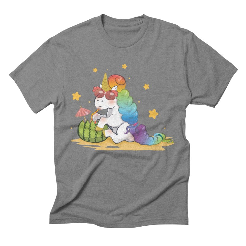Even Unicorns ... Men's Triblend T-Shirt by angelielle's Artist Shop
