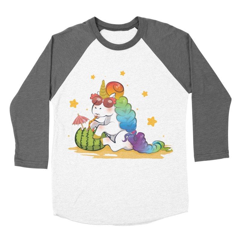 Even Unicorns ... Women's Baseball Triblend T-Shirt by angelielle's Artist Shop